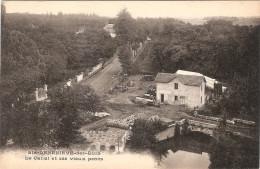 CPA Ste Geneviève Des Bois Le Canal Et Ses Vieux Ponts 91 Essonne - Sainte Genevieve Des Bois
