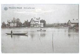 10136 Cpa BERLARE ; OVEMEIRE DONCK  : Zicht Op Het Meer 1920 ( 2 SCANS  ) - Berlare