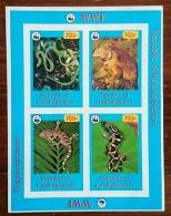 RUSSIE - Ex URSS Reptiles, Serpents, Bloc Feuillet. 4 Valeurs Emis En 1999. Neufs Sans Charniere. MNH - Serpents