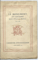 Le Monument Aux Valenciennois Morts Pour La FRANCE - Guerra 1939-45