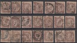 Nr 49  21x Nuances,Variateiten Oblit/gestp - Bélgica