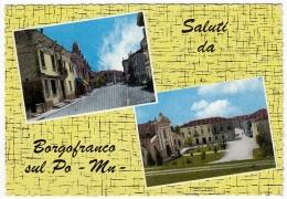 SALUTI DA BORGOFRANCO SUL PO - MANTOVA - 1966 - Mantova