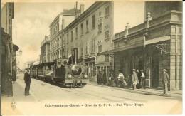 CPA   VILLEFRANCHE SUR SAONE, Gare Du F.C.B. Rue Victor Hugo  12829 - Villefranche-sur-Saone