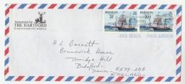 1977 Air Mail BERMUDA Illus ADVERT COVER DEER STAG Pic Multi SAILING SHIP  FLOWER Stamps - Bermudes