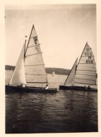 Photo Originale Allemagne - Magnifiques Voiliers En Bois à Starnberg - Bavière - En 09.1934 -