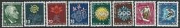 Switzerland 1947-8    Sc#B166-73  Flowers & Olympics Sets  MLH*   2016 Scott Value $4.25 - Switzerland