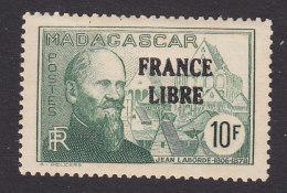 Malagasy Republic/Madagascar, Scott #227, Mint Hinged, Jean Laborde Overprinted, Issued 1942 - Madagascar (1889-1960)