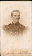 Foto Hard Karton - Photo Carton - Militair Soldaat  - Fotograaf A. Meslin  - Antwerpen - War, Military