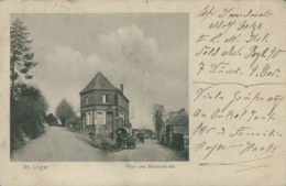 BELGIQUE SAINT LEGER / Post Und Bahnhofstrasse / - Saint-Léger