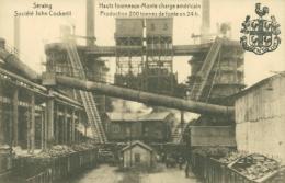 BELGIQUE SERAING / Hauts Fourneaux-Monte Charge Américain, Production 200 Tonnes De Fonte En 24h / - Seraing
