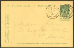 Collection LE HAVRE Ste ADRESSE - E.P. Carte. 5 Centimes PELLENS  Obl. Sc LE HAVRE (SPECIAL) 27-6-1915 Vers Ste-Adresse - Other Covers
