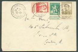 Collection LE HAVRE Ste ADRESSE - Lettre Affranchie Pellens 5, 10 Et 20 Centimes Obl. Sc LE HAVRE (SPECIAL) 23-04-1915 V - Other Covers