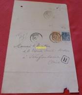 Timbres  Sur Feuille Dessus De Lettre   1901 - Francia
