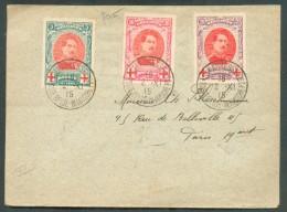 Collection LE HAVRE Ste ADRESSE - Lettre Affranchie N°132/134 (Albert Croix-Rouge)  Obl. Sc Ste-ADRESSE Poste BELGE  2-X - Other Covers