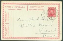 Collection LE HAVRE Ste ADRESSE - E.P. Carte. 10 Centimes Em. 1915 Obl. Sc Ste-ADRESSE Poste Belge  29-XII-1915 Vers Vés - Other Covers