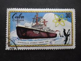 Cuba N°1629 BRISE-GLACE NUCLEAIRE Lénine Oblitéré - Schiffe