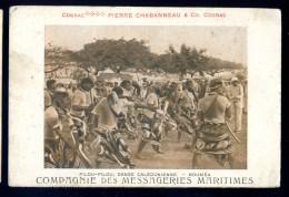 Cpa De Nouvelle Calédonie Pilou Pilou Danse Calédonienne -- Nouméa Compagnie Messageries Maritimes    LIOB37 - Nouvelle-Calédonie