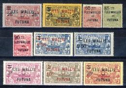 Wallis Et Futuna 1924 - 27 Serie N. 30-39 MLH Catalogo € 118 - Unused Stamps