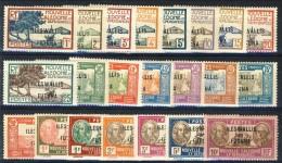 Wallis Et Futuna 1930 - 38 Serie N. 43-65 (lotto Di 22 Valori) MLH Catalogo €  38 - Unused Stamps