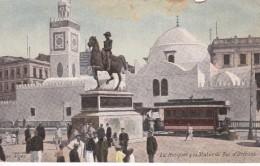 POSTAL DE ARGELIA DE LA MOSQUEE & LA STATUE DU DUC D'ORLEANS (AQUA-PHOTO) - Argelia