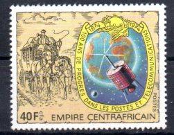 CENTRAFRIQUE   N° 336  * *    Upu  Poste  Satellite Telecommunication Calleche - Space
