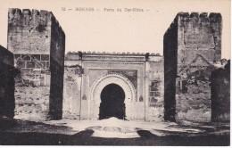 POSTAL DE MEKNES DE LA PORTE DU DAR-KBIRA (MARRUECOS) - Meknes