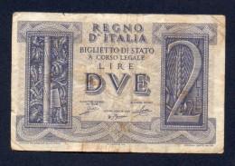 DUE LIRE / 2 LIRE - IMPERO BB - [ 1] …-1946 : Koninkrijk