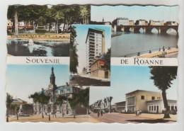 CPSM ROANNE (Loire) - Souvenir De....5 Vues - Roanne