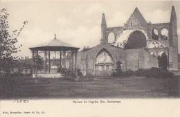 Belgique - Furnes - Pionnière Ruines Eglise Sainte-Walburge - Kiosque De Musique - Non Classés