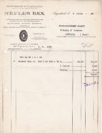 FACTURE De La S.A. Des Fours ROUSSEAU  -  MEULES REX,  116 Bis, Quai De Seine à ARGENTEUIL (95) - Other