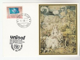 UNICEF EVENT COVER Card 1980 UN At ESSEN GERMANY United Nations Art - UNICEF
