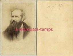 CDV 2 Sur 2- Personnalité Russe? à Identifier-le 14 Juillet 1870--photo Anonyme Voir La N°1 Du Même Homme - Old (before 1900)