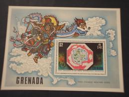 GRENADA - BF 1973 METEREOLOGIA/DISEGNI  - NUOVO(++) - Grenada (...-1974)