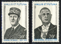 Wallis Et Futuna 1971 Serie N. 180-181 DE Gaulle MNH Catalogo € 28 - Unused Stamps