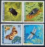 Wallis Et Futuna 1974 Serie N. 185-188 Insetti MNH Catalogo € 32 - Unused Stamps