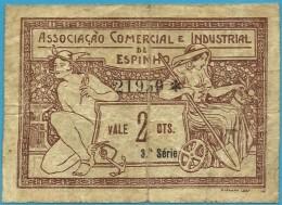 ESPINHO - CÉDULA De 2 CENTAVOS - Setembro 1920 - M. A. 824 - Ass. Com. Ind. - PORTUGAL - EMERGENCY PAPER MONEY - NOTGELD - Portugal