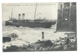 """62/ PAS De CALAIS... CALAIS MARITIME. Le """"Queen"""" Sortant Des Jétées, Partant Pour Douvres. 1908 - Calais"""