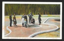 Adults & Kids At Handkerchief Pool Yellowstone Park Wyoming Unused C1920s STK#93640 - Yellowstone