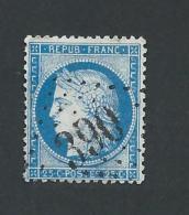 N°60 GC 390 BEAUMONT LA RONCE INDRE ET LOIRE COTE MATHIEU 37.5€ SUR BLEU - 1849-1876: Periodo Classico