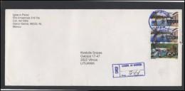 MEXICO Postal History Envelope Bedarfsbrief MX 010 Air Mail Sailing Ships Birds Fauna - Mexico