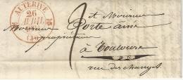HAUTE GARONNE - AUTERIVE - SUPERBE TYPE 12 ROUGE DESTINATIONTOULOUSE - 1801-1848: Précurseurs XIX