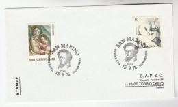 1976 SAN MARINO Stamps COVER Art - San Marino