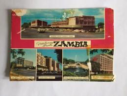 AK AFRIKA ZAMBIA HOTEL EDIMBURG IN KITWE SHOPPING CENTRE  CAIRO ROAD LUSAKA ANSICHTSKARTE 1970 - Postcards