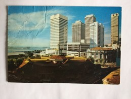 AK SINGAPORE SINGAPUR  AN OLD LANDMARK  TELOK AYER MARKET WITH GOVERMENT AND COMM. OFFICE   ANSICHTSKARTE 1977 - Singapour