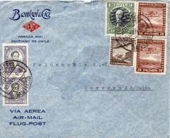 Chili Lettre Pour La Suisse 1936 - Chile