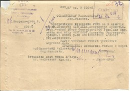 Russia USSR Soviet Soldier  Death Notice - Was Killed 1944 - 1939-45