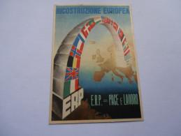 """ITALIA - Cartolina """"ricostruzione Europea"""" - Viaggiata - Italy"""