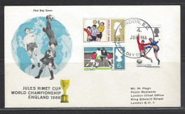 GROSSBRITANNIEN FDC Mi-Nr. 422 - 424 X Fußballweltmeisterschaft, England - FDC