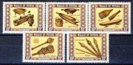 Wallis Et Futuna 1977 Serie N. 198-202 Artigianato MNH Catalogo € 14 - Unused Stamps