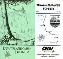 Kamptal-Seenweg-Führer 1980 Waldviertel Thaya-Kamp-Weg 4. Auflage ÖAV Österreich Niederösterreich Oswald Rieder NÖ - Reiseprospekte